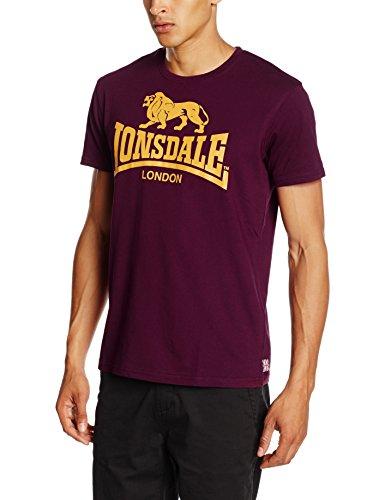 Lonsdale London Herren T Shirt Trägerhemd Logo, Blutrot, L