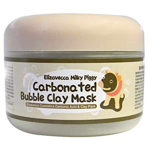 Hanone Cuidado de la Piel Mascarilla de Arcilla con Burbujas carbonatadas Mascarilla de Tratamiento del sueño Blanqueamiento Hidratación Cerdo Negro