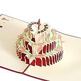 Biglietto di auguri 3D torta di compleanno Biglietto di auguri 3D