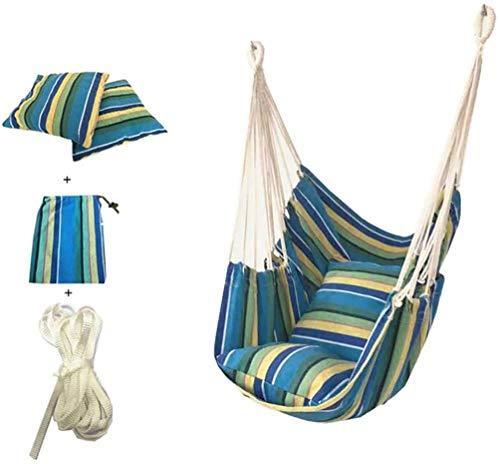 Katoenen canvas schommelstoel geweven hangmat hangmat schommel huis tuinmeubelen en accessoires (K)