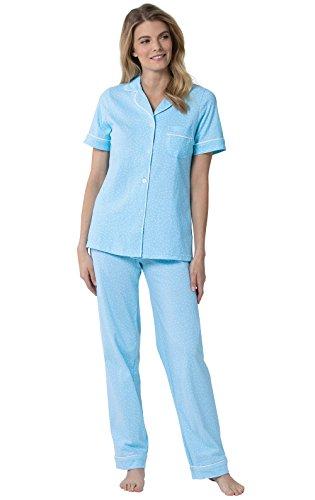 PajamaGram Pajamas for Women Soft - Polka Dot Pajamas for Women, Blue, S, 6-8