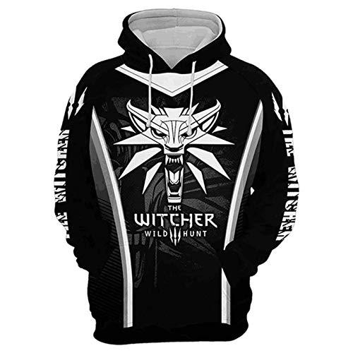 Jinlan Fuzhuang Hoodie Sweatshirt Assassins Cosplay Jacke Witcher mit Kapuze Wind Mantel für Männer (S, Farbe10)