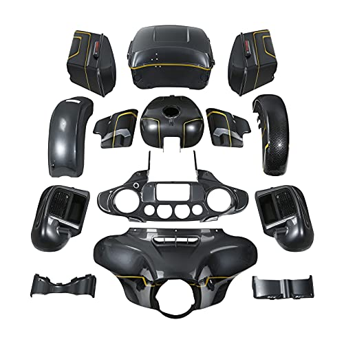 Fairing Body work kit for Harley Electra Glide and Ultra Limited models 2014-2021,for Gold/Black Geometric Shape Fade