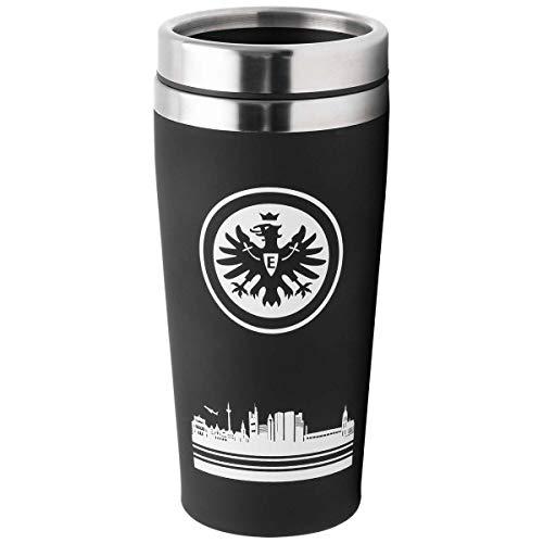 Eintracht Frankfurt Thermobecher - Skyline - Kaffeebecher to go SGE - Plus Lesezeichen I Love Frankfurt