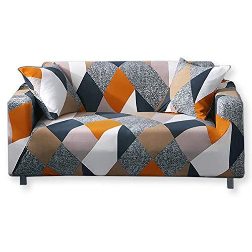 KAILH Funda de sofá Elastica 1/2/3/4 plazas, Cubierta de Flores para sofá con Cuerda de fijación, Universal Ajustables, Antideslizante Protector Cubierta de Muebles
