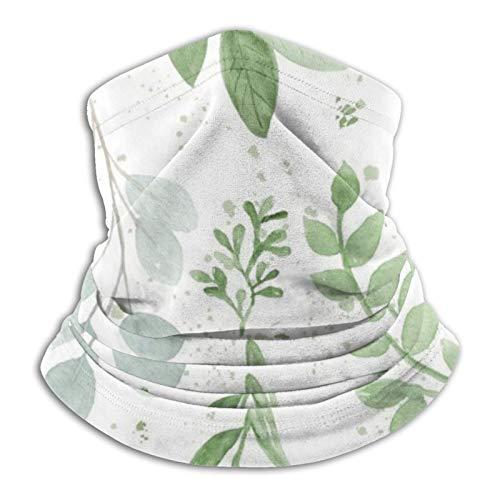 Watercolor Hojas más grandes Patterndailymilacles Unisex cuello Polaina tubo Snood Face Coverings