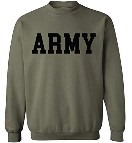 Awkwardstyles Army Sweater Black Military Physical Training Sweatshirt + Sticker Gift (Medium, Military Green)