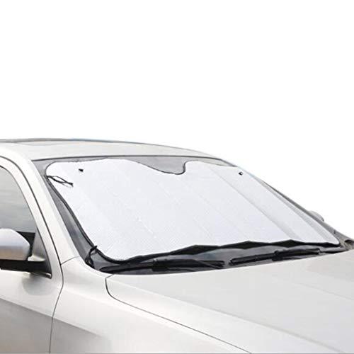 C-J-Xin Car Zonnescherm, 130-140CM zilver aluminium folie Fold Weerstand Op hoge temperatuur Sunshade Sunscreen Summer Shading Mat Zonnescherm Car Schaduw van de Zon (Size : 130 * 60CM)