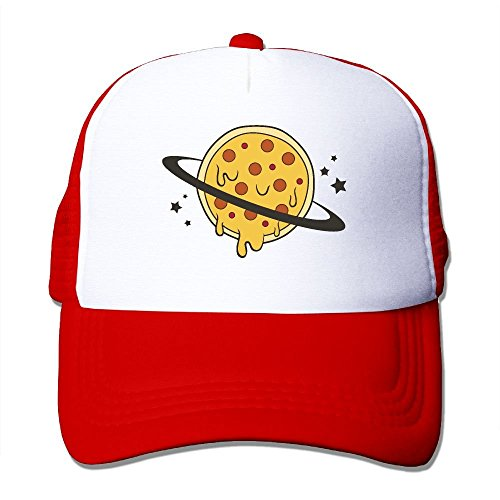 Youaini Planet Pizza Art Mesh Trucker Caps/Hats Adjustable for Unisex Black