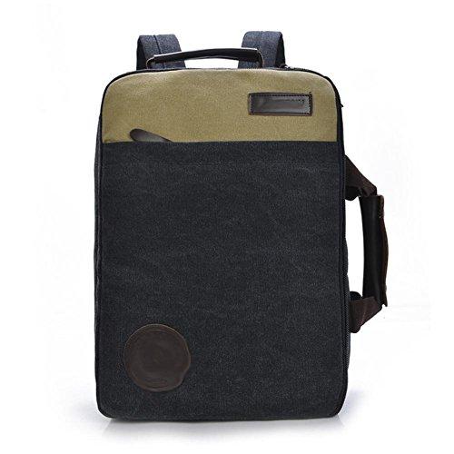 SZH&BEIB Unisexe Sac à dos en toile Casual Mode vitesse Voyage extérieur école ou sac pour ordinateur portable de travail , A