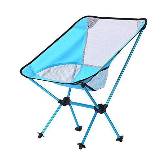 Z-LIANG Im Freien beweglichen Mond Stuhl Camping Klappstuhl ultraleichten Aluminium-Legierung Fischerei Stuhl Ultra Light Mond Stuhl geeignet for Reisen, Angeln, Grillfeiern usw.
