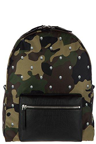 Alexander McQueen mochila bolso de hombre en Nylon nuevo verde