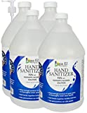 3.75 Liter Bottle With Pump Non-Ethyl Hand Sanitizer Gel Isopropyl Alcohol 75 percent Made in USA by Aqua EZ