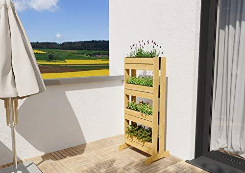 GartenDepot24 Estable vivero vertical bancal de hierbas con separador de madera con...