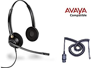 Avaya Compatible Plantronics HW520 EncorePro 520 VoIP Noise Canceling Headsets 1408 1416 2410 2420 4606 4610 4612 4620 4621 4622 4624 4625 4630 5410 5420 5610 5620 5621 5625 9404 9406 9408 9504 9508