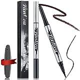 VANTICA Liquid Eyeliner & Gel Eyeliner Pencil - 2 In 1 Felt Tip Eyeliner & Mechanical Eyeliner Pen [with Eyebrow Razor Gift], Eye Liner Makeup, Long Lasting, Pitch Black, 0.023 Fl.Oz