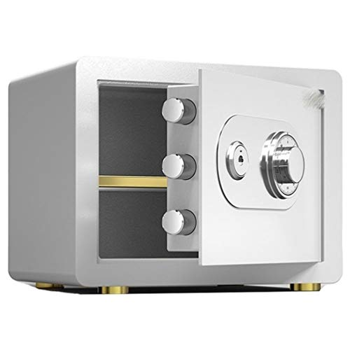 Tresore-SYY Klein Feuerfest Tresore For Zu Hause, Mechanischer Tresorschrank For Stahlbüros, Aufbewahrungsbox For Bank- / Hoteldepots, 4 Farben / 2 Größen (Color : White, Size : High 25cm)