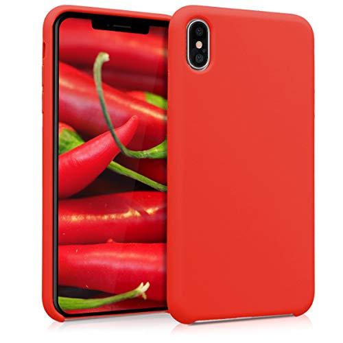 kwmobile Hülle kompatibel mit Apple iPhone XS Max - Handyhülle gummiert - Handy Case in Rot