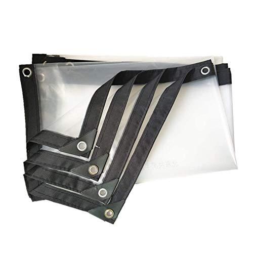 Lona de Protección Al Aire Libre Tela Impermeable Proteccion Solar Impermeable Transparente Resistencia Al Desgarro Plegable Lámina de Plástico Con Ojales , 22 Tamaños ( Color : Clear , Size : 3x5m )
