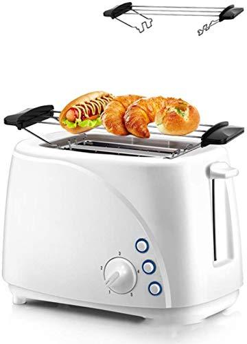 Toaster 2-Scheiben, 5 Speed Adjustment, Thawing Abtauen, leicht zu reinigen, für Bagels, Specialty Brot & andere Backwaren, bewegliche Hauptküche