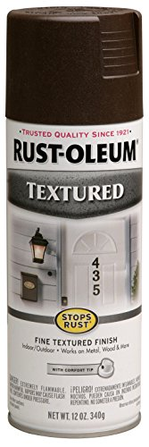 Rust-Oleum 241255 Textured Spray Paint, 12 oz, Dark Brown