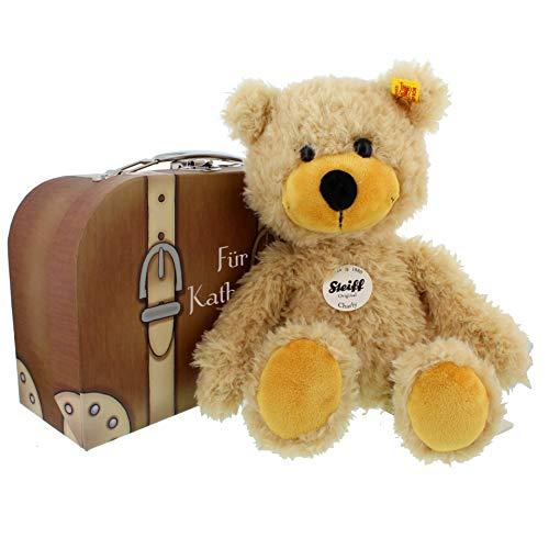 Steiff-Teddy Charly im Reise-Koffer mit individueller Personalisierung
