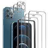mixigoo 3 Pack Cristal Templado para iPhone 12 Pro Max, 3 Pack...