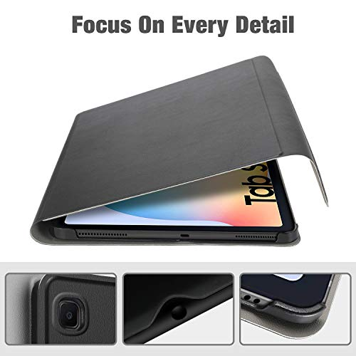 ELTD Tastatur Hülle für Samsung Galaxy Tab S6 Lite (Deutsches QWERTZ),7 Farben LED-Hintergrundbeleuchtung Kabellose Tastatur für Samsung Galaxy Tab S6 Lite 10,4 Zoll 2020 (Schwarz)