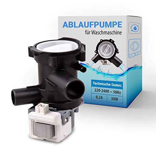 Laugenpumpe Ablaufpumpe Ersatz für Siemens Bosch 00144978 144978 Wasserpumpe Magnetpumpe Pumpe Abwasserpumpe mit Pumpenkopf für Waschmaschine