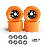 JAP768 4pcs 90mm x 52mm PRO Gruiser Ruote da Crociera Floywheels Big Morbido Longboard Ruote Skateboard (Colore : Orange)