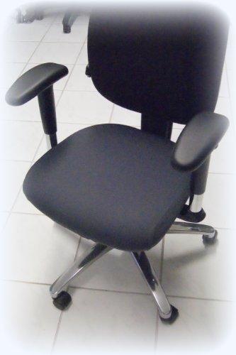 Bezug für Bürostuhl - Husse für Bürodrehstuhl Drehstuh Farbe Anthrazit, 44 x 44 cm