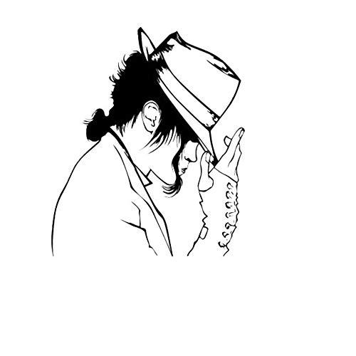 Michael Jackson mit einem Hut Tanzen Kunst Wandbild König Wandgemälde Vinyl Home Decor