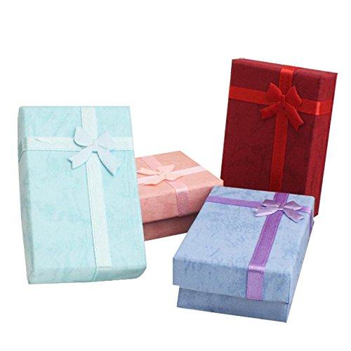 Toruiwa 10x Boîtes à Cadeaux pour Noël Fête Anniversaire Saint-Valentin 5x8cm (Bleu Foncé)