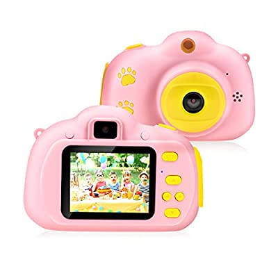 """Rodzon Kids Toys Video Camera, Kids Selfie Camera Digital Video Recorder 2.0"""" IPS Screen HD 1080P,Birthday for 3 4 5 6 7 8 Year Old Boys Girls, Including 32GB SD Card from Rodzon"""