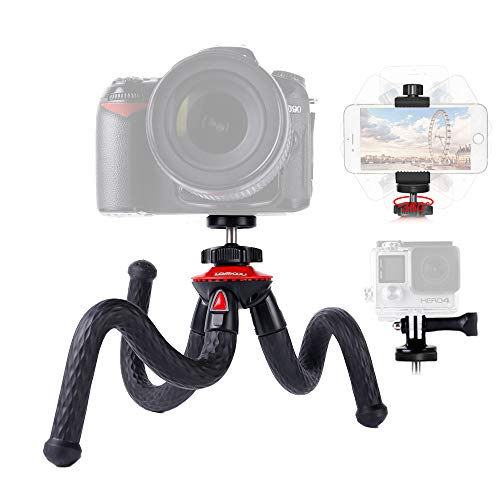 comparateur Lammcou Smartphone Trépied Flexible Trépied Gopro Gorilla Octopus Pod Caméra Portable Vlogging Miroir Trépied Nikon Canon Fujifilm Olympus DSLR Camera et Samsung Huawei Phone Mini Trépied