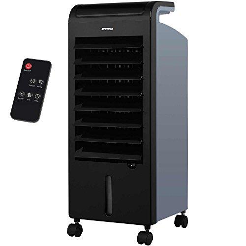 Syntrox Germany 4 in 1 Luftkühler Luftbefeuchter Lufterfrischer und Ventilator mit Touch Panel und Fernbedienung Luftdurchsatz 900 m³/h AC-80W-5L Soft