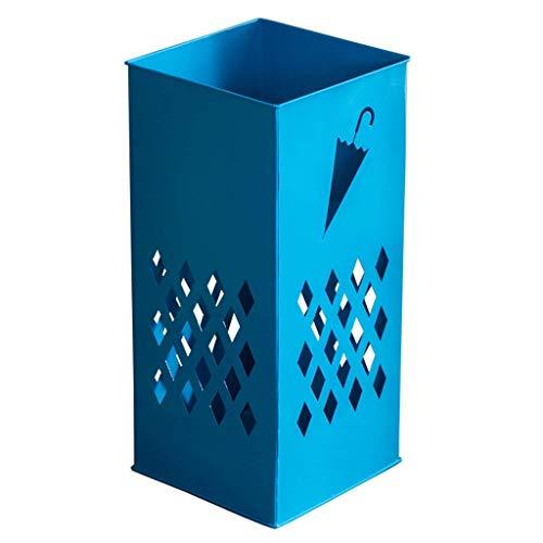 ZXL Huishoudelijke Open Haard Paraplu Opslag Emmer Europese Smeedijzer Single Stand Multifunctionele Enkele Scherm (Kleur: Wit) Blauw