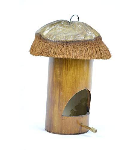 Nichoir de Jardin en Bambou et Noix de Coco. Maison d'oiseaux.