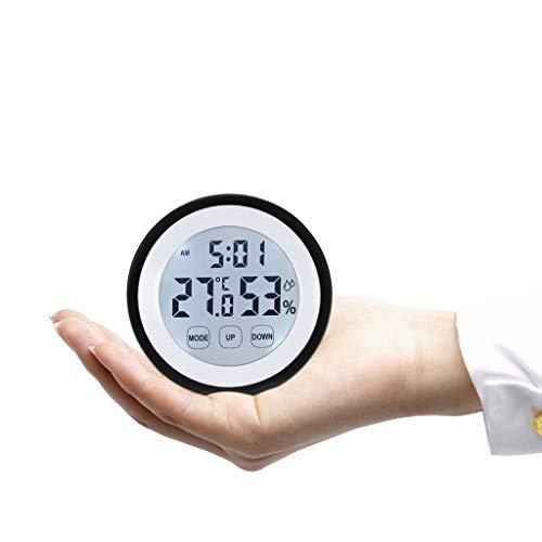 YUTRD ZCJUX Termómetro Digital Higrómetro Temperatura Humedad Meter Reloj De Alarma Toque Key con La Retroiluminación Centígrada/Fahrenheit Grados