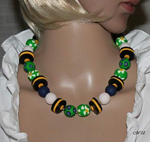 Polymer Clay Edelweiß Halskette