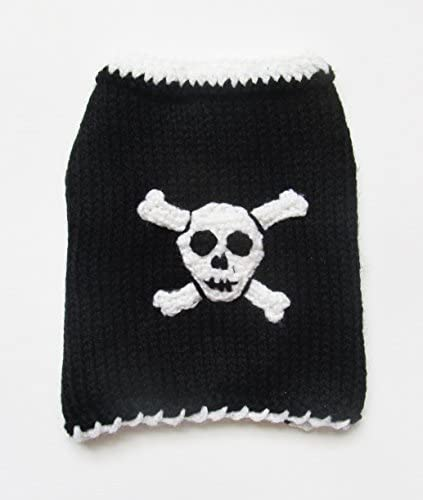 ADogFashion Skull Dog Sweater Black Small Teacup Dog Clothes Halloween Costume Yorkie Chihuahua product image