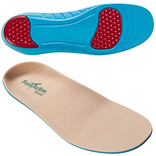 FootActive Sensi - Einlegesohlen für empfindliche Füße - Eine Wohltat für Fersen und Fußballen! GR. 42-43 (M)