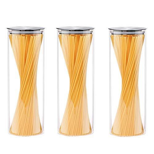 Schüttdosen Streudosen Feuchtigkeitsbeständig Beheizt Gekühlt Stapelbar Hochborosilikatglas Zum Restaurant 4 Größen (Size : 1500MLX3)