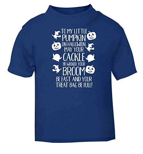 Flox Creative T-Shirt pour bébé Inscription to My Little Pumpkin Noir - Bleu - 2 Ans