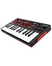 AKAI Professional MPK Mini Play - Mini teclado controlador MIDI USB completamente independiente y con altavoz integrado, pads estilo MPC, efectos internos y paquete de software incluido