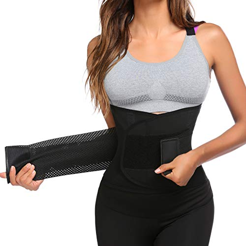 Ekouaer Waist Trainer Belt for Women Adjustable Body Sharpe Slimming Sports Girdle Weight Loss...