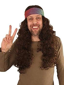 hippie wigs for men