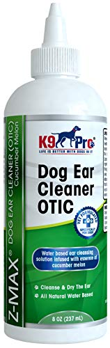 K9 Pro Dog Ear Cleaner - Infection Treatment Advanced OTIC Ear Wash for Dogs - Solution for Ear Mite Dogs Itching Head Shaking Discharge Smelly Ears & Yeast Infections