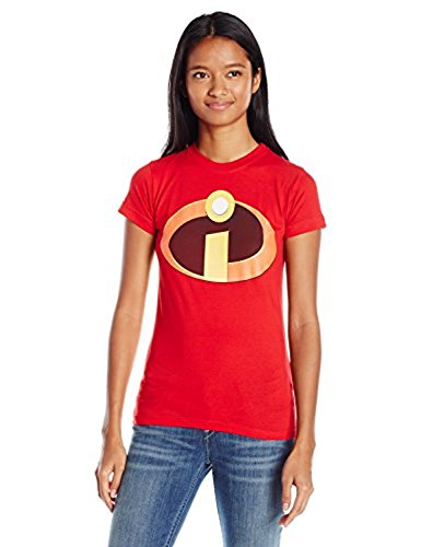 Disney Women's The Incredibles Logo Graphic T-Shirt, Red, L