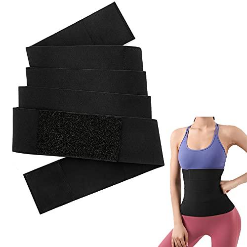 Waist Trimmer for Women, Invisible Wrap Waist Trainer Tape, Elastic Waist Trimmer Slimming Body Shaper Belt, Adjustable And Comfortable Backrest (3M)